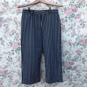 Lauren Ralph Lauren Wide-Leg Striped Pants